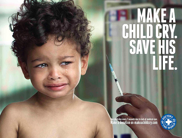 Рекламщики заставляют детей плакать