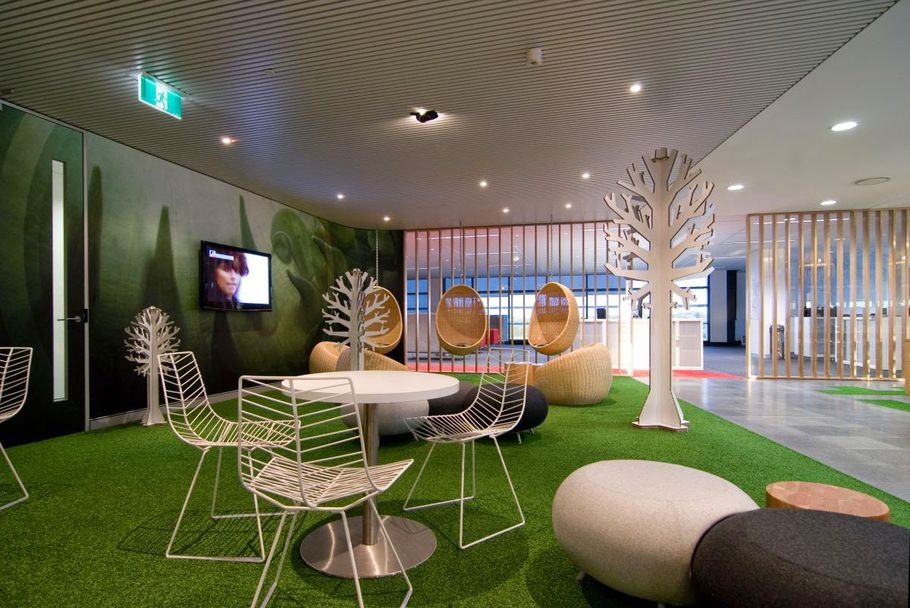 Обеденная тема: креативный дизайн комнаты отдыха в офисе